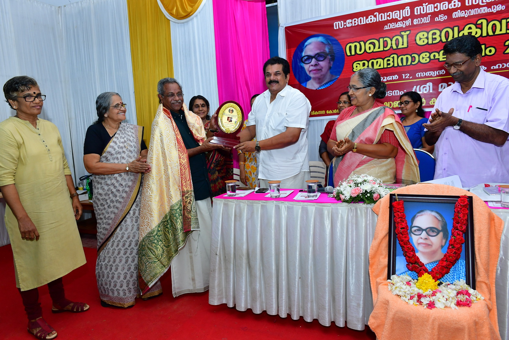 MLA Mukesh inaugurated 96th birth anniversary of Devaki warrier 2019 with a very enlightening and informative speech .